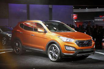 Hyundai Santa Fe дебютировала на выставке в Нью-Йорке