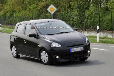 Mitsubishi тестирует новое поколение Colt на дорогах Европы