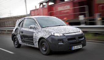 Прототип модели Opel Adam. Пока что единственное официальное изображение автомобиля.
