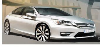 Скетч нового поколения Honda Accord для российского рынка