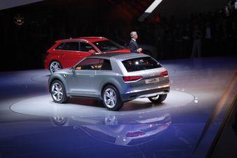 Audi Crosslane Coupe на презентации в Париже.