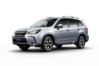 На фотографии — Subaru Forester четвертого поколения в комплектации с турбированным двигателем. Официальная презентация модели пройдет 13 ноября.