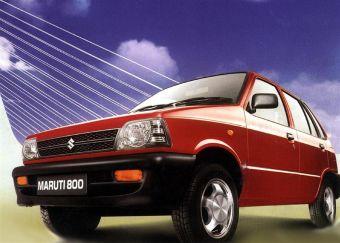 Так выглядит первый автомобиль индийской марки – Maruti 800 на базе Suzuki Alto.