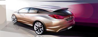 Скетч концепт-кара Honda Civic Wagon