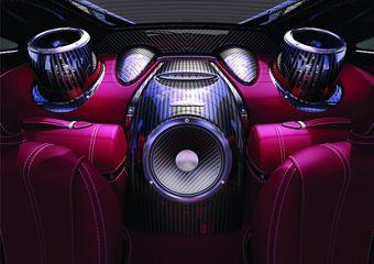 Новая акустическая система класса Hi-End втрое мощнее стандартной для Huayra и выполнена из инновационных материалов.