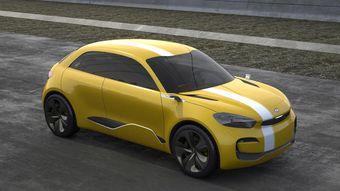 Концепт-кар Kia Cub готовят к дебюту на Сеульском автосалоне 2013.