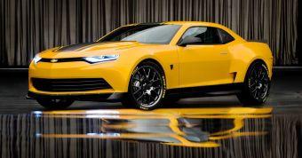 General Motors показал первые фотографии концепта Camaro Bumblebee, который может стать основой для рестайлинговой версии серийного купе.