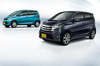 Nissan DAYZ (на первом плане) и Mitsubishi eK Custom хорошо показали себя в первый месяц продаж в Японии.