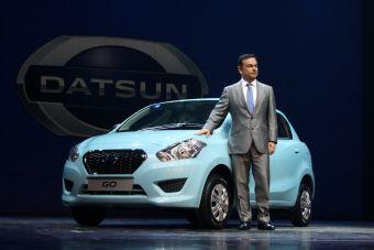 Карлос Гон представил новую модель Датсун Гоу в Индии.