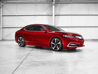 Acura пока не показала дизайн серийной версии нового седана. На снимках — концептуальная версия TLX.