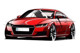 Судя по изображениям, дизайнеры сохранили общие черты кузова TT, но дополнили машину отдельными элементами, создающими ощущение «родства» компактного купе Audi с суперкаром R8.