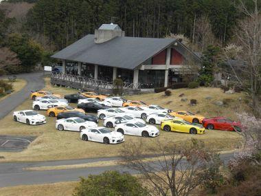 ВЯпонии состоялась первая встреча клуба владельцев Lexus LFA