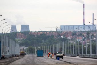 Строительство мостового перехода завершается по графику. Объект должен быть сдан в конце сентября.