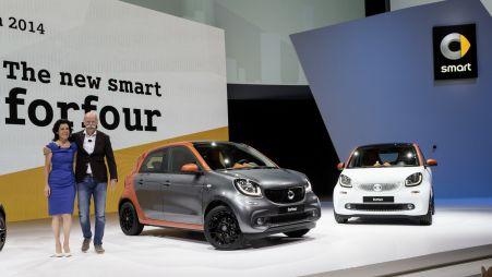 Smart представил новое поколение моделей fortwo и forfour