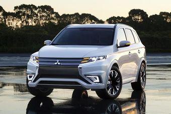 Передняя часть концепта выполнена в стиле других прототипов Mitsubishi, продемонстрированных компанией в последние несколько лет.