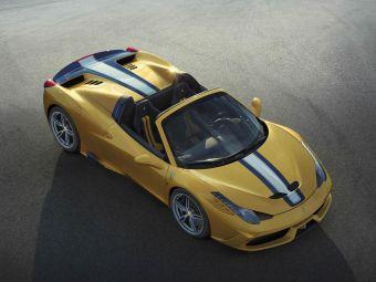 Под капотом 458 Speciale A находится атмосферный 4,5-литровый мотор V8, отдача которого составляет 605 л.с. (при 9000 об/мин.) и 540 Нм (при 6000 об/мин.).