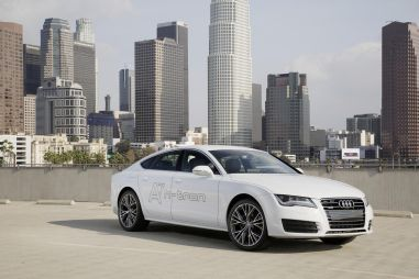 Лос-Анджелес-2014. Водородные автомобили от VAG: Audi A7 Sportback h-tron quattro и VW Golf SportWagen HyMotion