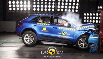 Кроссовер Porsche Macan стал первой моделью марки, испытанной Euro NCAP. Вседорожник получил пять звезд — высокий уровень защиты пассажиров компенсировал нехватку системы превентивного торможения у модели.