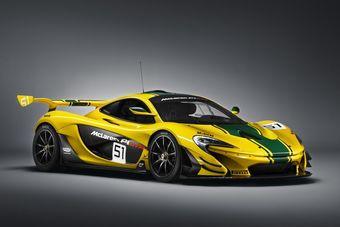 Женевский образец P1 GTR выкрашен в те же цвета, что и гоночный F1 GTR, который финишировал третьим в 24 часах Ле-Мана в 1995 году.