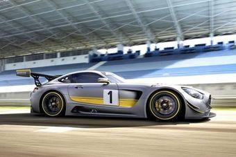 По неофициальным данным, новый болид для FIA GT3 унаследует 6,3-литровый мотор V8, которым оснащался его предшественник — SLS AMG GT3.
