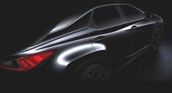 Судя по единственному изображению машины, новый RX получит дизайн в стиле более компактного кроссовера NX.