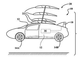 Весь комплекс будет предельно компактным — в патенте отмечается, что автомобиль должен подходить для перемещения по дорогам наряду с другим автотранспортом, а также для полетов по воздуху.