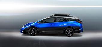 Новинка не является самостоятельной моделью, а скорее демонстрирует практичность универсала Civic текущего поколения с его 1668-литровым багажником.