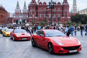 Москва, сентябрь, Ferrari