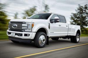 Форд показал линейку тяжелых пикапов F-Series Super Duty с алюминиевым кузовом