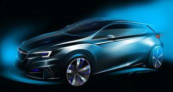 В конце октября Subaru представит концепт нового поколения модели Impreza. Пока что компания показала лишь скетч этого автомобиля.