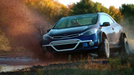 Kia на тюнинг-шоу в Лас-Вегасе: седан Optima переделали в кабриолет, а купе Forte — в багги