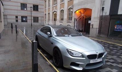 BMW с российскими номерами получил 60 штрафов за блокировку проезда в центре Лондона