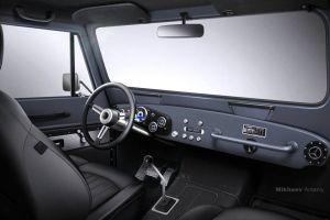 Создатели модернизированных ГАЗ-69 с V8 показали изображение салона
