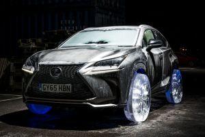 Lexus NX оснастили функциональными колесами из льда