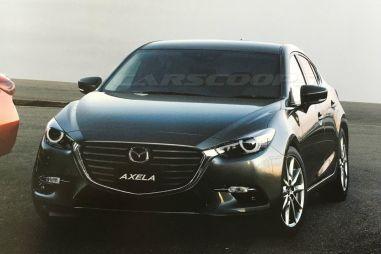 Опубликованы фотографии обновленной Mazda3