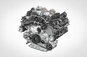 Ожидается, что в перспективе новый V8 от Porsche войдет в состав гибридной силовой установки.