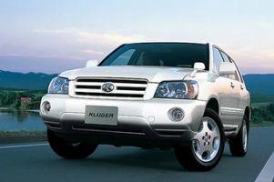 Toyota Kluger V прошел малую модернизацию