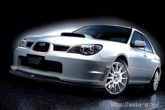 """Компания Subaru сообщила о том, что в июне 2007 на японский рынок выйдет новое поколение автомобиля Subaru Impreza и Subaru Forester.  (На фото текущее поколение Subaru Impreza WRX STI в комплектации """"Spec C Type RA-R"""")"""