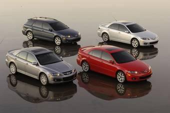Mazda готовит к осени новое поколение Mazda6. (На фото модельных ряд текущего поколения Mazda6).