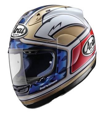 Разработкой окраски нового шлема Arai RX-7 Corsair Kenny Roberts занимался итальянский дизайнер Альдо Друди (Aldo Drudi).