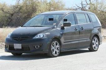Mazda5 после рестайлинга. Вид спереди.