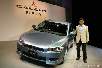 Президент компании Mitsubishi господин Масуко Осаму представил новый Galant Fortis.