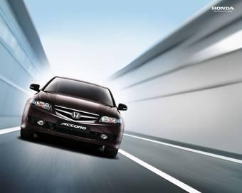 Honda готовит новый Accord для рынка Европы.  На фотографии изображен европейский вариант Honda Accord нынешнего поколения, смена которого произойдет в 2008 году.