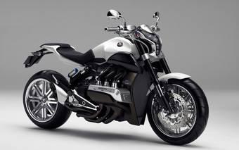 Концепт-байк Honda Evo6 - это нейкед с 6-цилиндровым двигателем объемом 1832сс от Gold Wing.