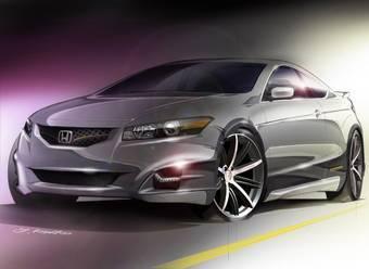 Honda Accord Coupe HF-S Concept выставляется на автошоу для привлечения внимания покупателей к новой модели.