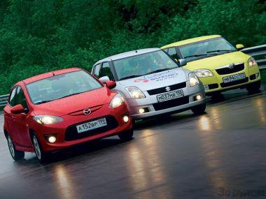 Сравнительный тест в классе компакт: Mazda2, Skoda Fabia и Suzuki Swift