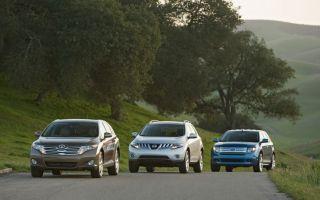 Сравнительный тест кроссоверов: Ford Edge против Nissan Murano и Toyota Venza