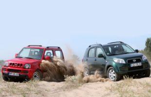 Сравнительный тест компактных внедорожников: Daihatsu Terios против Suzuki Jimny
