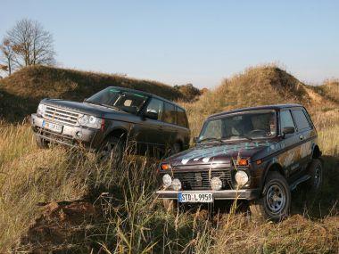 Lada Niva 4x4 1.7i против Range Rover TDV8. Небо и земля