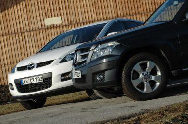 Сравнение Mazda CX-7 и Mercedes GLK: плавные линии против углов